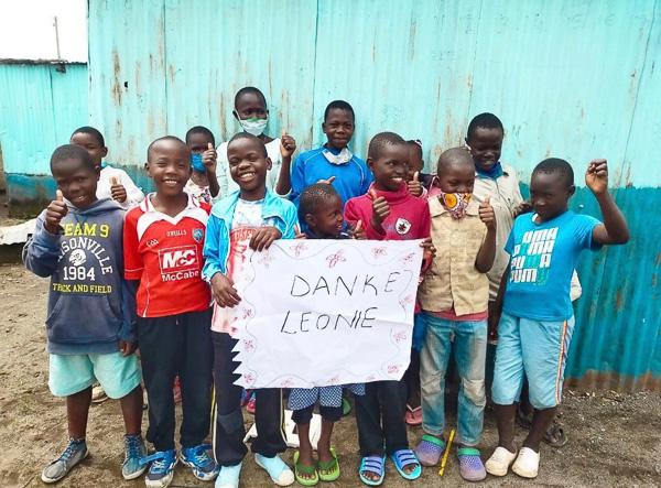 Donation to Kenia